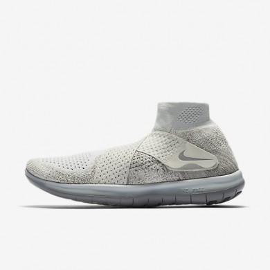 Chaussures de sport Nike Lab Free RN Motion Flyknit 2017 femme Voile/Érable foncé/Beige clair/Argent réfléchissant